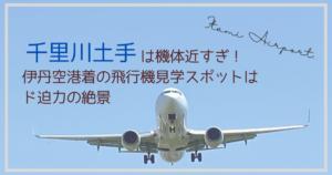 千里川土手伊丹空港飛行機スポット